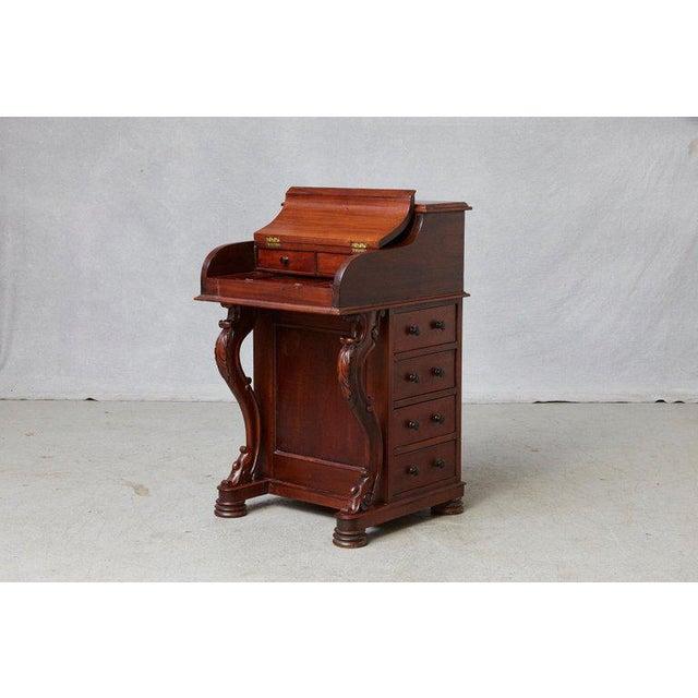 20th Century Walnut Piano Top Davenport Desk For Sale - Image 9 of 13