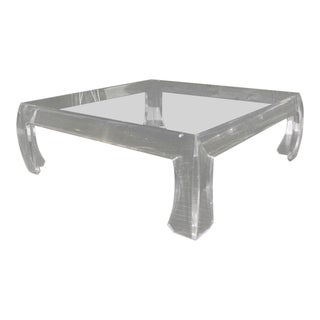 Ming Lucite Cocktail Table