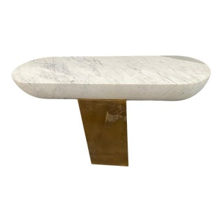 Contemporary Pill Console Table For Sale