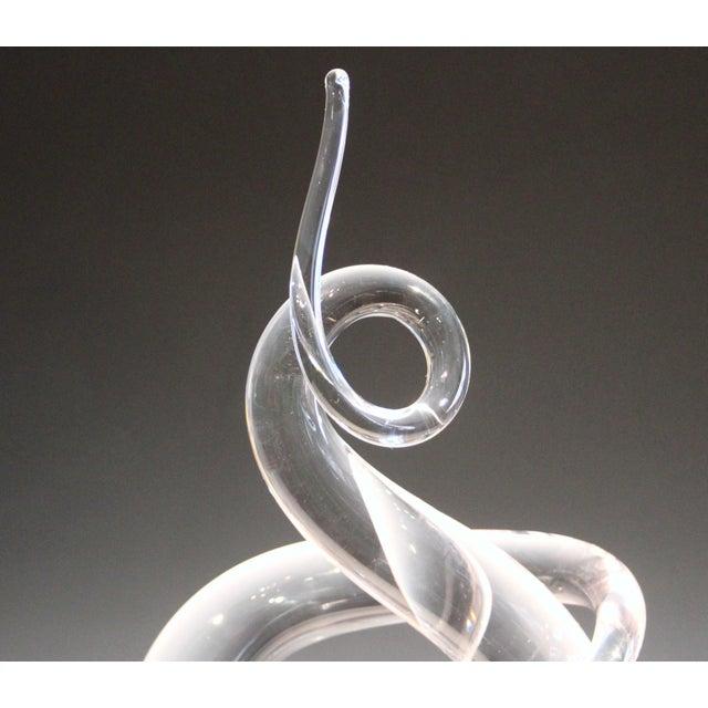Murano Vintage Murano Vetri Glass Italian Love Knot Anniversary Sculpture For Sale - Image 4 of 9