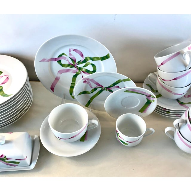 White Vintage Jacques Coeur Dinnerware-Set of 49 For Sale - Image 8 of 13