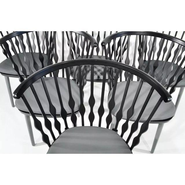 Contemporary Patricia Urquiola Nub Armchairs - Set of 6 For Sale - Image 3 of 10