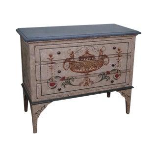 Amy Howard Collection Hand Painted Italian Slate Top Commode Chest For Sale