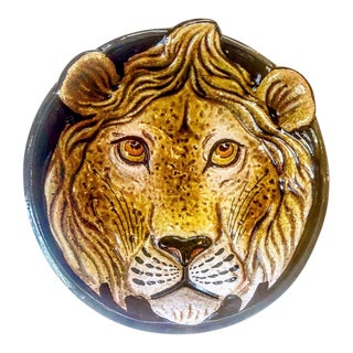 Large Vintage Italian Deep Lion Dish For Sale