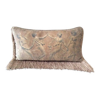 Neiman Marcus Decorative Silk Roman Motif Pillow For Sale