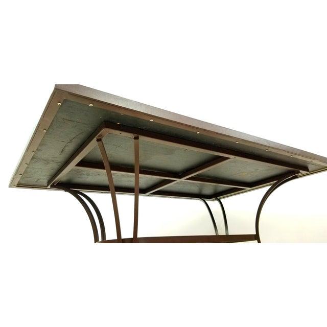 Boho Chic Mosaic Fleur-De-Lis Sunburst Tile Top Table For Sale - Image 4 of 13