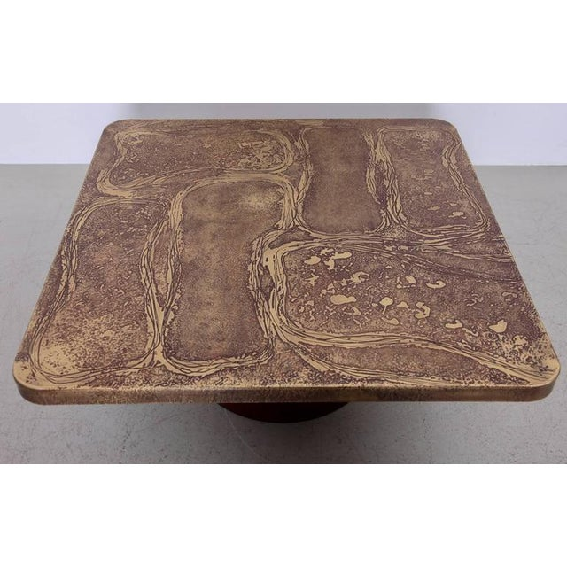 Very Rare Brass Coffee Table by Heinz Lilienthal For Sale - Image 4 of 5