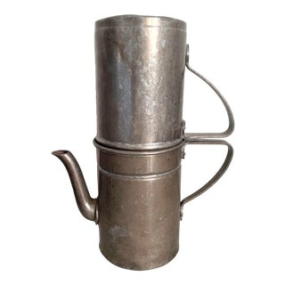 Late 19th Century Antique Metal Coffee Maker For Sale