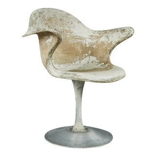 Sculptural Molded Fiberglass Chair For Sale