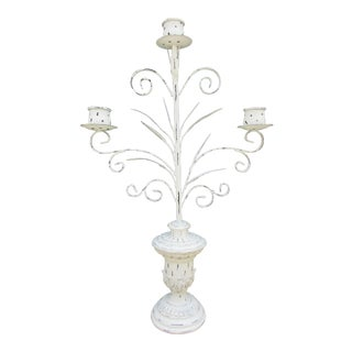 20th Century Italian Style Tole Candelabra For Sale