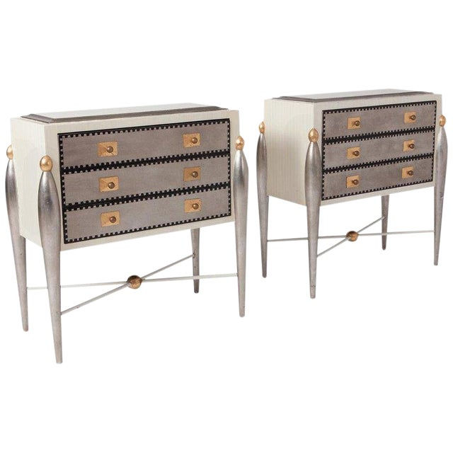 Hollywood Regency Glam 1970s Drawer Cabinets For Sale