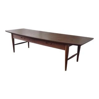 Lane Mid-Century Modern Surfboard Coffee Table