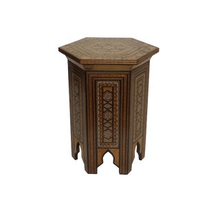 20th Century Mother of Pearl Hexagonal Tabouret Side Table