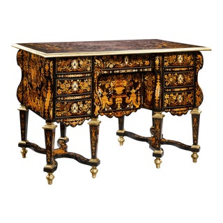 Knee-Hole Desk Attributed To Pierre Golle