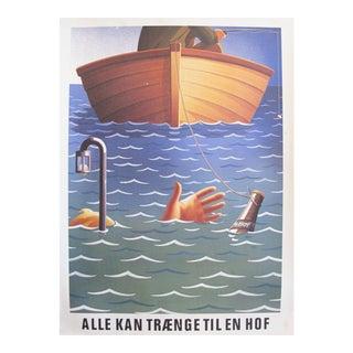 1980s Danish Carlsberg Beer Ad, Fishing