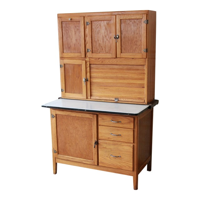 Hoosier Kitchen Cabinet: Antique Oak Hoosier Cabinet