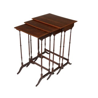 Edwardian Nesting Tables - Set of 3 For Sale
