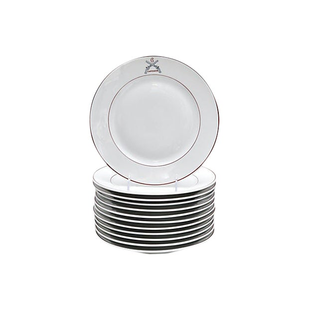 French Restaurant Plates - Set of 12 For Sale