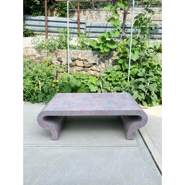 1970s Scroll Waterfall Coffee Table For Sale - Image 9 of 9