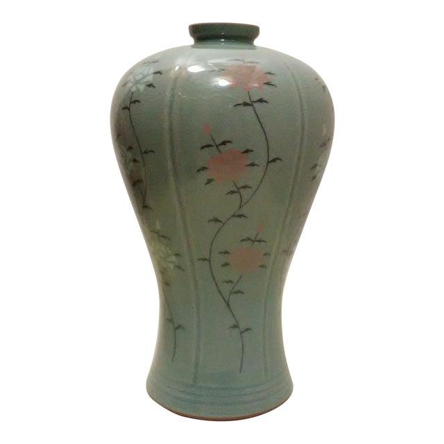 Vintage Korean Celadon Green Ma Byeung Vase Chairish
