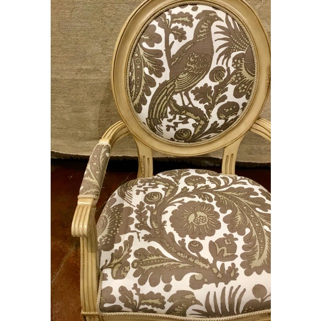 Modern Port 68 French Style Taupe & Ivory Avery Chairs Pair For Sale In Atlanta - Image 6 of 8