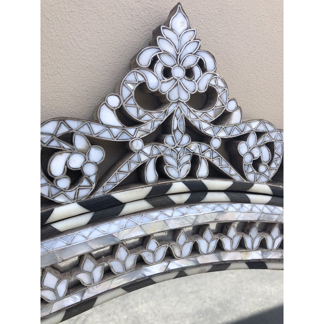 Contemporary Mother of Pearl Inlay Mirror For Sale - Image 4 of 6