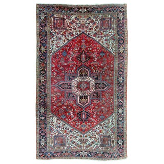 1920s Large Palace Heriz Rug - 10′4″ × 17′4″ For Sale