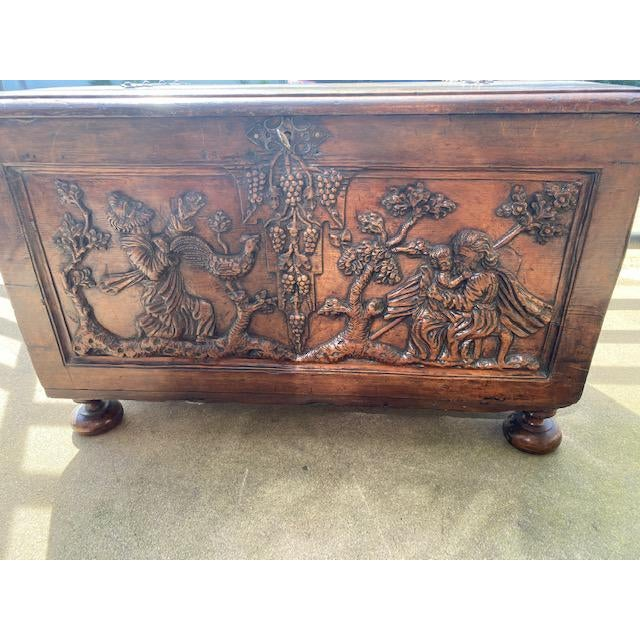 Late 18th Century Italian Carved Trunk Miniature For Sale - Image 12 of 13