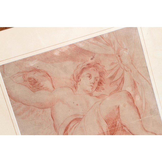 18th Century Continental Red Chalk Drawing, Figure Study For Sale In Dallas - Image 6 of 11