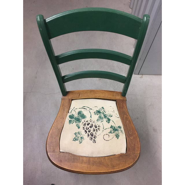 Antique Kitchen Table With Hand Painted Chairs - Set of 5 - Image 5 of 10