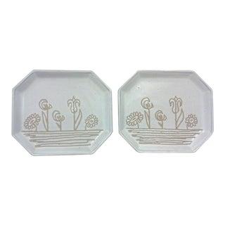 Martz Floral Plates - A Pair For Sale