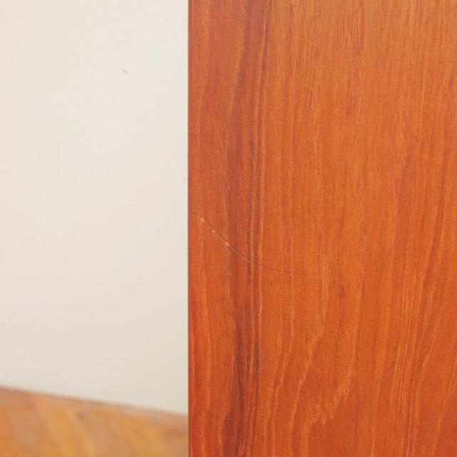 Chestnut Vintage Danish Teak Highboy Dresser For Sale - Image 8 of 12