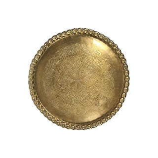Round Brass Tray From India For Sale