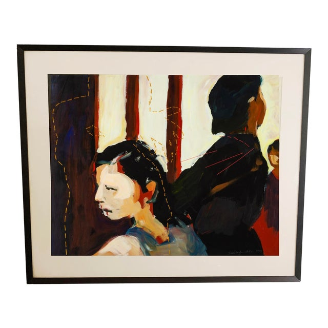Susan Durfee Thulin 'The Dance' Large Framed Painting For Sale