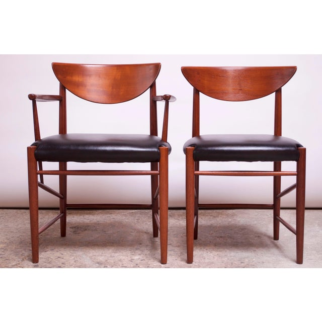 Soborg Mobelfabrik Teak Dining Chairs by Peter Hvidt and Orla Mølgaard Nielsen - Set of 8 For Sale - Image 4 of 13