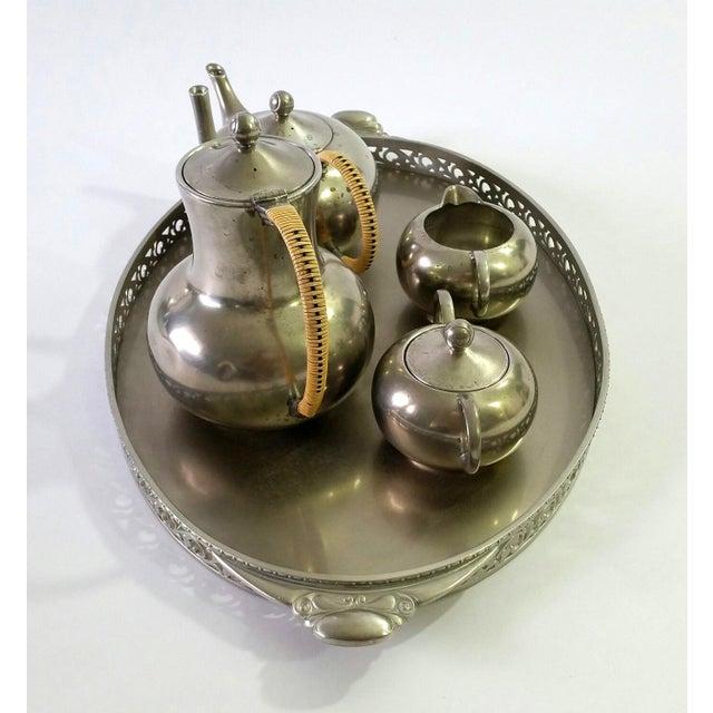 1960s Vintage Royal Holland Pewter Tea Serving Set For Sale - Image 4 of 11