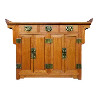 Ming Style Asian Credenza by George Zee For Sale