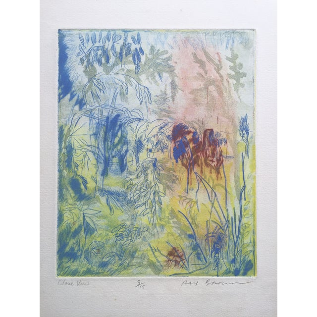 """""""Close View"""" Landscape Etching by Ray Brown For Sale"""