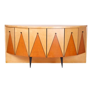 Postmodern Demilune Credenza or Cabinet For Sale