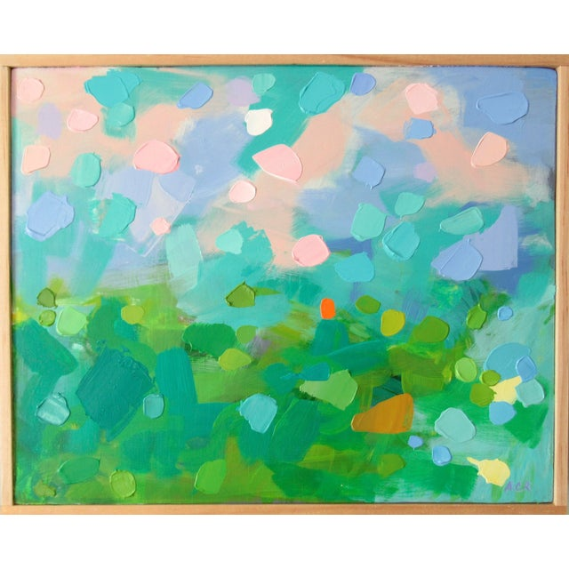 Abstract Study of Green Wheat Fields, Auvers by Anne Carrozza Remick For Sale