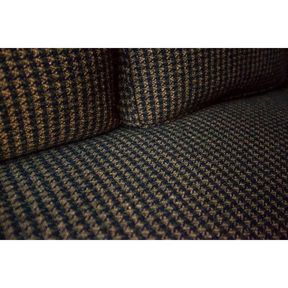 Monteverdi-Young Mid-Century Black Mustard Wool Herringbone Sofa - Image 3 of 7