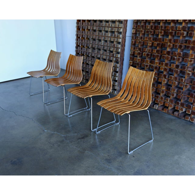 Mid-Century Modern 1960s Mid-Century Modern Hans Brattrud for Hove Dining Chairs - Set of 4 For Sale - Image 3 of 13