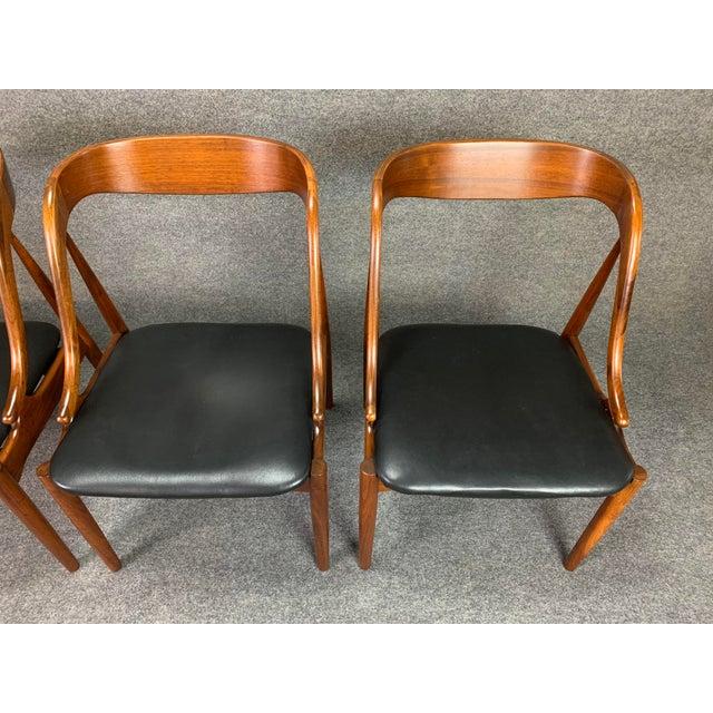 Black 1960s Vintage Johannes Andersen Danish Modern Walnut Dining Chairs- Set of 4 For Sale - Image 8 of 10