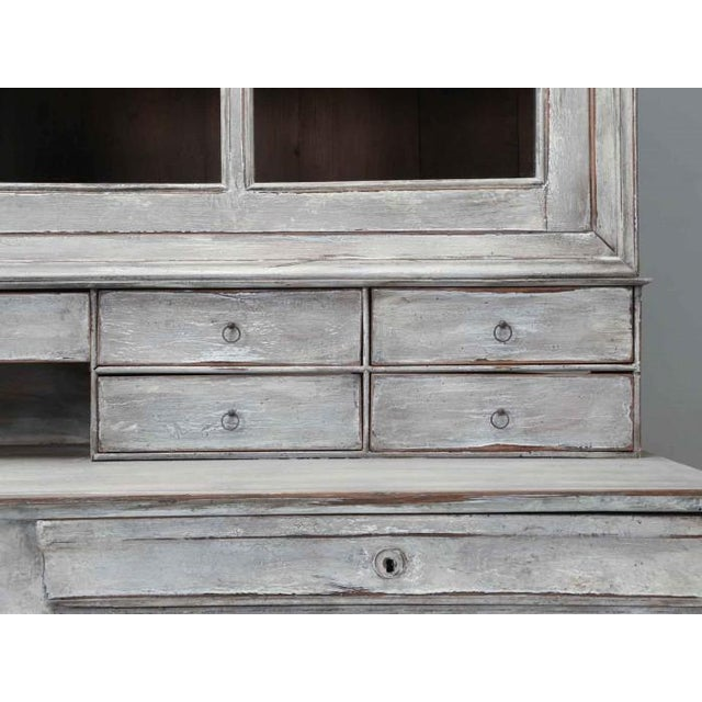 Off-white Antique French Bookcase and Desk For Sale - Image 8 of 13