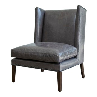 Modern Brown Wing Chair For Sale