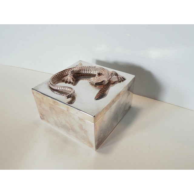 Silvered Metal Lizard Box - Image 2 of 6