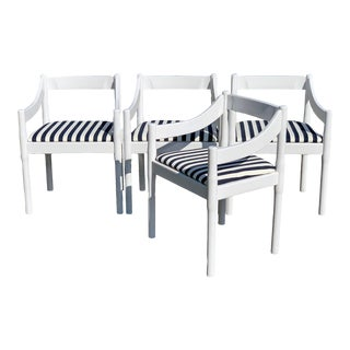 Vico Magistretti Carimate Chairs, Set of 4 For Sale