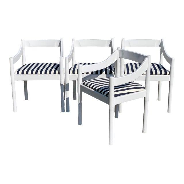 Vico Magistretti Carimate Chairs, Set of 4 For Sale