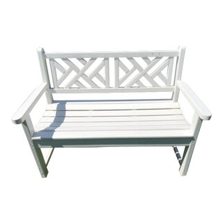 Chippendale Style Polywood Garden Bench For Sale