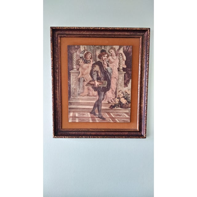 Vintage Artini Hand Painted Sculpture Engraved Wall Art For Sale - Image 13 of 13